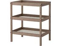 IKEA SUNDVIK Changing table, gray-brown plus Changing mat (Fisher Price)