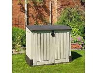 Garden storage box/unit supplied and fitted