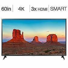 Télévision DEL 60 60UK6090 4K UHD HDR IPS WebOS 4.0 Smart LG