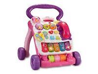 Vtech babysteps first walker pink