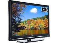 """SHARP 32"""" HDMI FLAT SCREEN TELEVISION TV LC-32SH130K BLACK + Remote, Good working condition"""