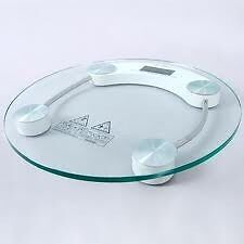 Exquisite Stylish Round Personal Glass scale.