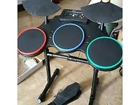 Xbox 360 Logitech Wireless DRUM CONTROLLER Guitar Hero Drums for sale  Hackney, London