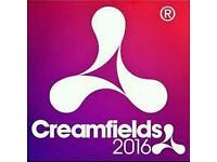 Creamfields weekend camping ticket