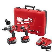 milwaukee fuel hammer drill and impact