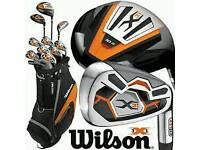 Wilson x31 golf set with trolley and balls