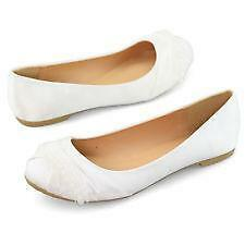 white flat wedding shoes white wedding flat shoes ebay 1323