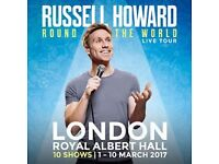 2 Premier Tickets for Russell Howard Round the World at Royal Albert Hall