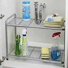 NEW IN BOX Space Logic Expandable Under Sink Shelf (Grey)  $15