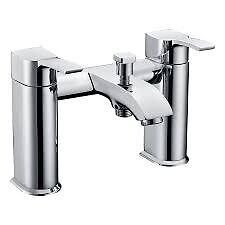 Bath Shower Mixer Tap with Handheld Shower Kit, New and Boxed, Chrome, Two Hole