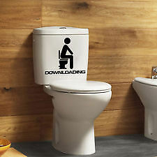 DOWNLOADING Vinyl Wall DECAL ~ Toilet ~ Bathroom ~ Laptop