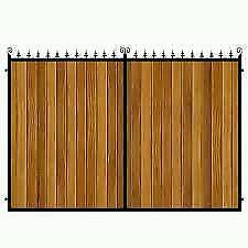 Brand new wrought iron and wooden driveway gates