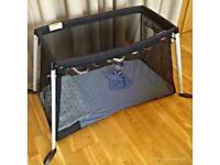 Phil and Teds Travel Cot, black, only used a couple of times. Very Light and compact.