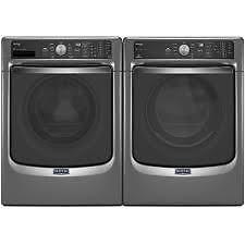Washer/Dryer Combo, Grey metallic, Front load [Maytag]