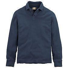 Mens long sleeve polo shirt medium ebay for Men s lightweight long sleeve polo shirts