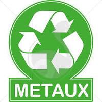 RECYCLAGE DE METAUX,FERAILLE,ELECTRO, ETC