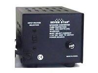 Seven Star 100/220 volt, 500 watt power transformer
