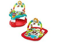 Bright starts lights and learn activity gym and saucer