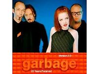 GARBAGE - VERSION 2.0 : 20 YEARS PARANOID SATURDAY LIVE AT BRIXTON STALLS STANDING TICKETS £30