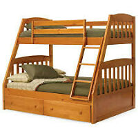 Bunk Beds For Sale, Single over Double with Mattresses