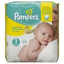 440 Brand new Size 1 Pampers Nappies/ nappy