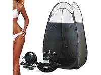 Spray tan gun and tent