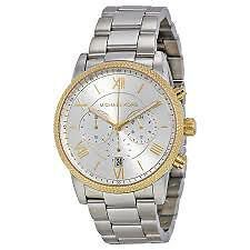 BNIB MICHAEL KORS HAWTHORNE STAINLESS STEEL WATCH WITH GOLD