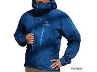 Arcteryx Alpha SV jacket New tagged Poseidon blue sz XL also Rab