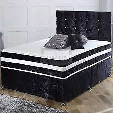 CRUSHED VELVET DIVAN BEDS