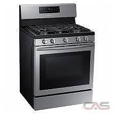 Cuisinière au gaz SAMSUNG 30 po, Autonettoyant, Convection, Tiroir réchaud, Acier Inox, (SKU: 1250), NX58H5600SS