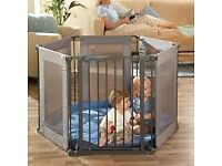 Lindam boxed safe & secure soft playpen / baby gates