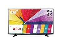 lg 49uf640 led 3d smart 4k uhd . mint condition . free sat build in .