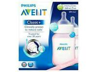 Philips Avent Classic pink bottles x2