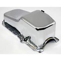 1 used Chevy chromed oil pan.