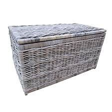 Wicker storage basket and bin