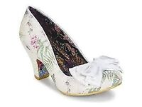 Ban Joe white floral Irregular choice shoes (size 4 37 ) Brand new in box (wedding?