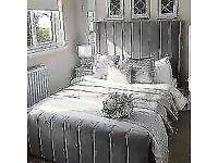 DOUBLE & KING SIZE PLUSH VELVET ROYAL WING BED FRAME w SUPER MATTRESS