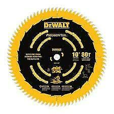 DEWALT DW3218PT Precision Trim™ 10-in 80-Tooth Ultra-Fine Finish Circular Saw Blade neuveee
