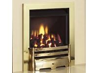 Legend Vantage 3.9 kw Coal Effect Inset Gas Fire c/w Slider Control ( Brass )