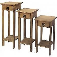 All New Solid Cheap Corona Mexican Pine reduced, Plant stand from £22