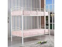 Beautiful Next Bunk Bed - white metal frame with crystals