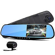 new car rearview mirror dual dash cam front and back view with memory card slot
