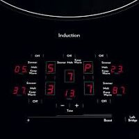 """Brand Name 36"""" Induction Cooktop Whit Lorge Elements"""