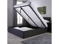 💷💷BRAND NEW FAUX LEATHER SINGLE/DOUBLE/KINGSIZE OTTOMAN STORAGE BED FRAME WITH MATTRESS OF CHOICE