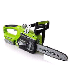 Earthwise 18-volt cordless electric chainsaw with OREGON®