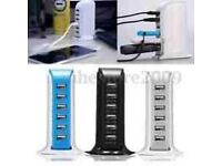 USB Hub: 6-Port USB Charging Station - 30 Watts... new
