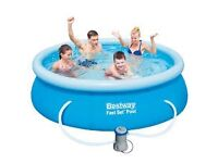 8ft pool and bestway pool heater and filter
