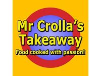 Counter Assistant Required for Mr Crollas Takeaway, Tranent