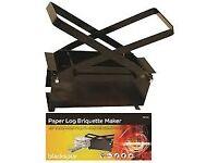 paper log maker for wood burners -- stove eco log