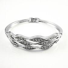 Womens Silver Cuff Bracelet
